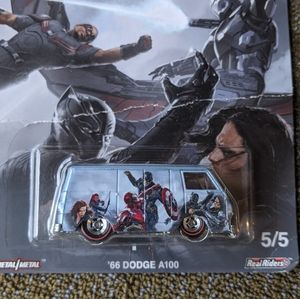 Hot Wheels Captain America van